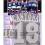 Estampado Francia Local 1992, #18 Cantona, Material En Flock
