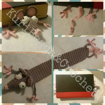 Separador De Libro Tejido A Crochet: Ratón