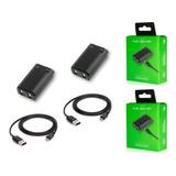 2 Baterias Recargables Para Control Xbox 360 Con Cable Usb