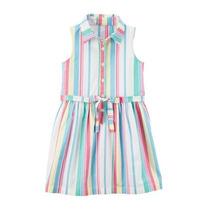 Busca Vestido Casual Moda Ropa Para Ninas Bebe Rallas Rosas