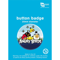 Angry Birds Placa - 25mm Gaming Insignias Oficiales De La Me