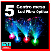 5 Lampara Led Rgb Centro De Mesa Fibra Optica Boda Party Xv
