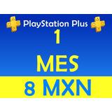 Ps Plus Ps4 Psn 1 Mes (28 Dias) Playstation *no Codigo*