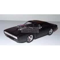 1:24 Dodge Charger 1970 Negro Mate Rápido Y Furios Jada Toys