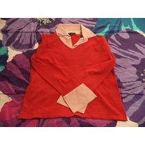 Precioso Sueter Tejido By Design P/dama Talla L Rojo