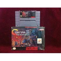Contra 3 The Alien Wars Nintendo Snes Impecable Caja Juego