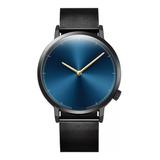 Reloj Original Casual Elegante De Moda Color Negro Con Azul