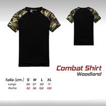 Camiseta Combat Shirt Playera Militar Gotcha Airsoft Caceria