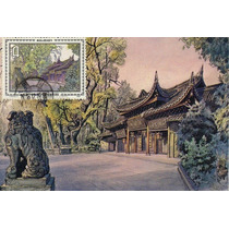 Ch156-china 5 Maxicards Scenes Of Mount Emei-