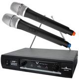 Sistema Profesional Par Microfonos Inalambricos Vhf Juego