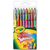 Crayola 24ct Mini Twistable Efectos Especiales Crayons