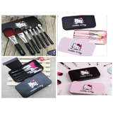 Set De Brochas Hello Kitty  Borchas Mini  7 Pzas