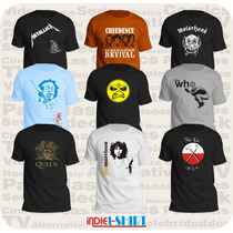 Playeras Elvis Pink Floyd Led Zeppelin Queen The Doors Acdc