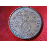 Alemania : Moneda Nazi Dos Marcos , Plata , Hitler 1937