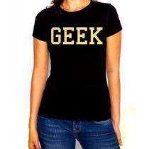 Playera Geek Old School Style Dama Color Negro Vario Colores
