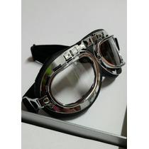 Goggles Para Motociclista Tipo Aviador, Bobber, Chopper, Cus