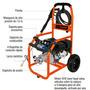 Hidrolavadora Lavadora Presion Motor Gasolina 5 Hp 2700 Psi