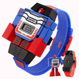 Skmei Reloj Robot Juguete Regalo Moda Niños Infantil Led