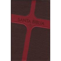Biblia Letra Grande Imitacion Piel Café Cruz Rojo Rvr60