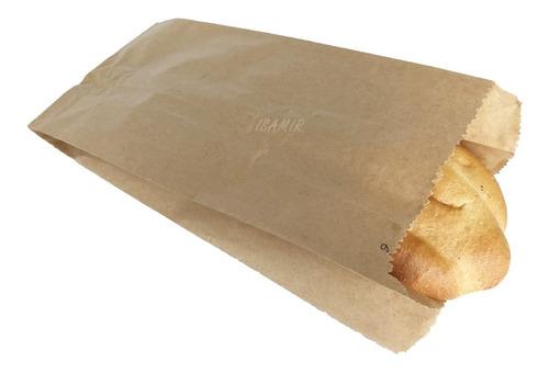 Bolsas No8 Papel Estraza 15x37cm 100pzs Pan Panadería Tienda