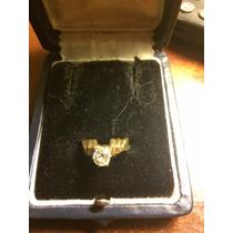 Anillo Brillante Blc Corte Antiguo 0.70q Oro 18k