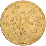 Moneda 50 Pesos Oro 1821 Baño Oro 24k Onza Libertad