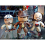 Mightj Muggs Pack Indiana Jones,tres Figuras Loose,no Baf.