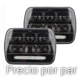 1 Pz Unidad Led Rectangular 5x7  Lupa 6d Fondo Negro Premium