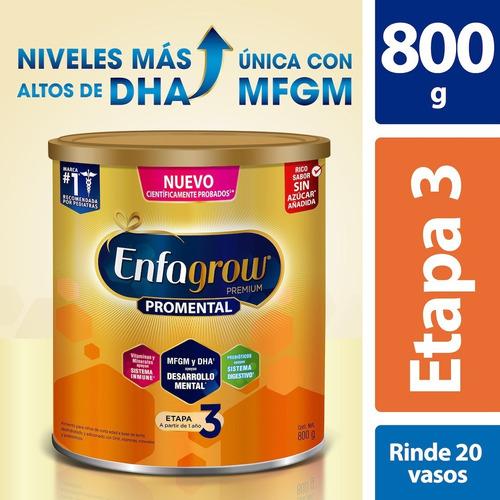 Leche De Crecimiento Enfagrow Etapa 3, Lata 800 G