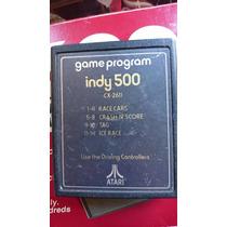 Indy 500 Race Cars Crash Score Tag Ice Race Game Atari 2600