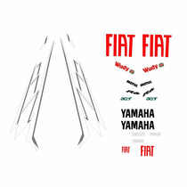Sticker - Calcomania - Vinil - Juego Yamaha R6 Fiat Acer