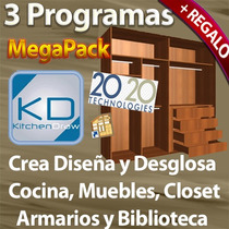 3 Programas Para Crear Y Desglosar Muebles: Cocinas Closets