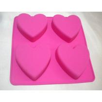 Moldes De Silicón Con Figura De Corazón De 4 Cavidades