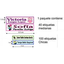 140 Etiquetas Nombre Marcar Ropa Bebes Guarderias Uniformes