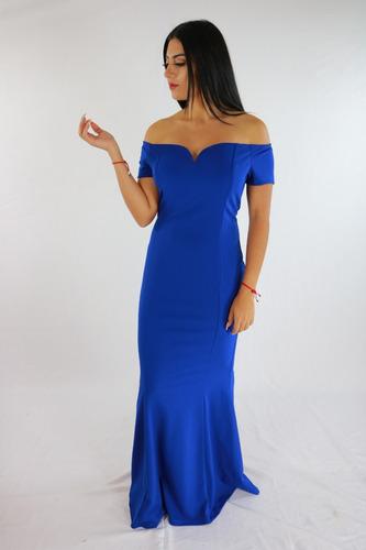 Vestidos de noche azul rey mercadolibre