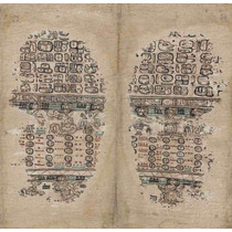 Lienzo Tela Códice Paris Maya Siglo 15 Últimas Páginas 50x46