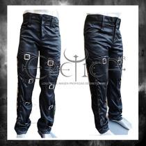 Pantalon Hebillas Enf. Tira Cost. Eretica Ropa Dark,gotico