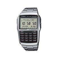 Reloj Original Casio Calculadora Plata Caballero Mod. Dbc-32