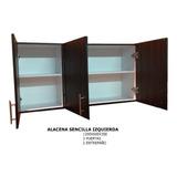 Alacena Color Chocolate 3 Puertas Para Cocina Integral.trami