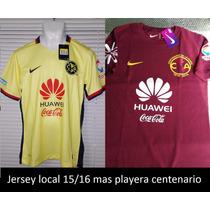 Jersey Club América Mas Playera Centenario De Algodón