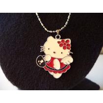 Hello Kitty Precioso Dije Acero Inoxidable Con Cadena 0361