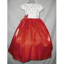 Nuevo Vestido Largo Satinado Fiesta Pajecita Princesa 6 -7