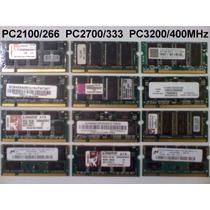 Memorias Laptop Ddr1 Pc-2100/2700 512mb. Entrega Gratis Df!