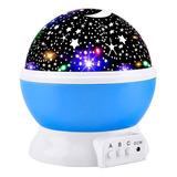 Lampara Noche Mesa Buro Proyector Estrella Niños Usb O Pilas