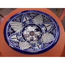 Exclusivo Lavabo Ovalin Gigante De Talavera Estilo Antiguo