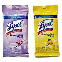 Lysol Desinfección Toallitas Por Tamaño Go Travel Limón Y La