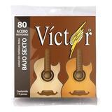 Juego De Cuerdas Bajo Sexto Víctor Mod Vcbs -80