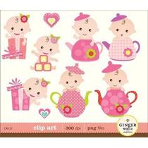 Kit Imprimible Baby Shower Nena 6 Imagenes Clipart