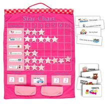 Calendario Aprendizaje - Pink Star Chart Tela Suave Pared