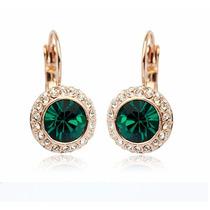 Aretes Kate Middleton Chapa De Oro Con Elements Swarovsk